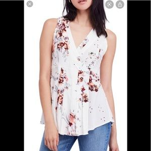 Free people floral/star wrap tunic
